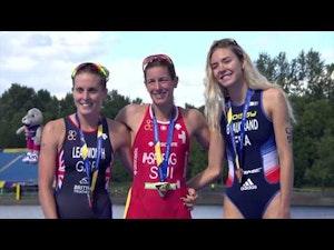 2018 European Championships Triathlon Elite Women Highlights