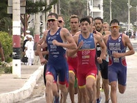 The men's race was a battle of surviving the masses as Spain's Castro won the very first Salinas World Cup crown in a sprint finish, securing his second World Cup podium of the year and his first career gold.