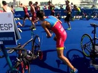 Spain's Mario Mola started off the new World Triathlon Series season exactly where he finished, on top of the podium, as he shook off a slow swim and a penalty to win the opening race of the 2016 WTS season.