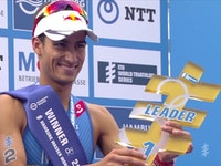 Becoming the first man to ever repeat a win at the venue, Spaniard Mario Mola captured his fifth career sprint distance victory at the 2017 ITU World Triathlon Hamburg.Surviving and conquering a mass pack that lasted throughout the race, Mola earned his win on the run, where he eased on by his competition on the five-kilometre course. The win not only put Mola in a tied position for most sprint distance victories in a career (with Jonathan Brownlee), but also pushed him to the position of most WTS sprint distance podiums in ITU history with eight.