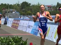 American has another fleet-footed triathlete on the scene as yet again it was the Star Spangled Banner ringing out around an ITU race, this time at the ITU Chengdu World Cup in China.