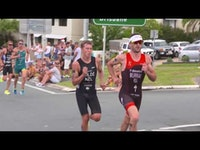 South Africa's Richard Murray was top seeded leading into today's race and he certainly didn't disappoint by motoring home to claim victory in the 2018 Mooloolaba ITU Triathlon World Cup.