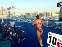 Claiming her first WTS victory since 2014, Great Britain's Jodie Stimpson finally earned her way back to the top of the podium by winning the first race of the season at the 2016 ITU World Triathlon Abu Dhabi.