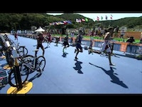 France's Tony Moulai wins his first ITU World Cup event in Tongyeong, South Korea.