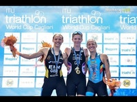 The athletes had to tackle big waves on the brand new Cagliari course, but Sophie Coldwell (GBR) made light work of them as she led from the swim to post another fine World Cup win and kick start her season in style.