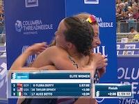Grandissimo terzo posto per Alice Betto, sul podio assieme alla vincitrice Flora Duffy e alla statunitense Taylor Spivey. La prima medaglia per l'Italia nelle WTS arriva da una grande prova in bicicletta per la Fiamme Oro, sempre con le prime