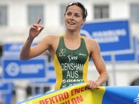 Densham marks her third WTS podium of the season with a win in Hamburg