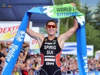 Swiss star Nicola Spirig showed off her brilliant finishing kick again as she powered to her second straight victory.