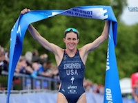 The Star - Spangled Banner was represented by more than one on the podium as the USA women swept yet another podium in the 2015 ITU World Triathlon London. Gwen Jorgensen continued her undefeated record as she took home the gold medal to claim her tenth-straight WTS title. She was joined by fellow compatriots Katie Zaferes and Sarah True who earned the silver and bronze.