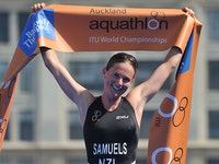 Varga and Samuels win World Aquathlon Championship titles