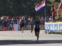 In the women's race, it was Great Britain's Hannah Kitchen that headed for transition first, but Anneke Jenkins (NZL) surprised the experienced aquathlon field when she sprinted past them...