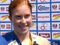 FIndlay's post-race interview after her win in Kitzbuhel