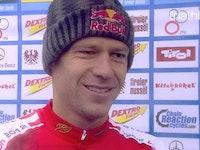 Post race interview with bronze medallist Sven Riederer
