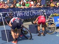 Nicolas (FRA) reclaims Duathlon World Champion Title in Penticton.