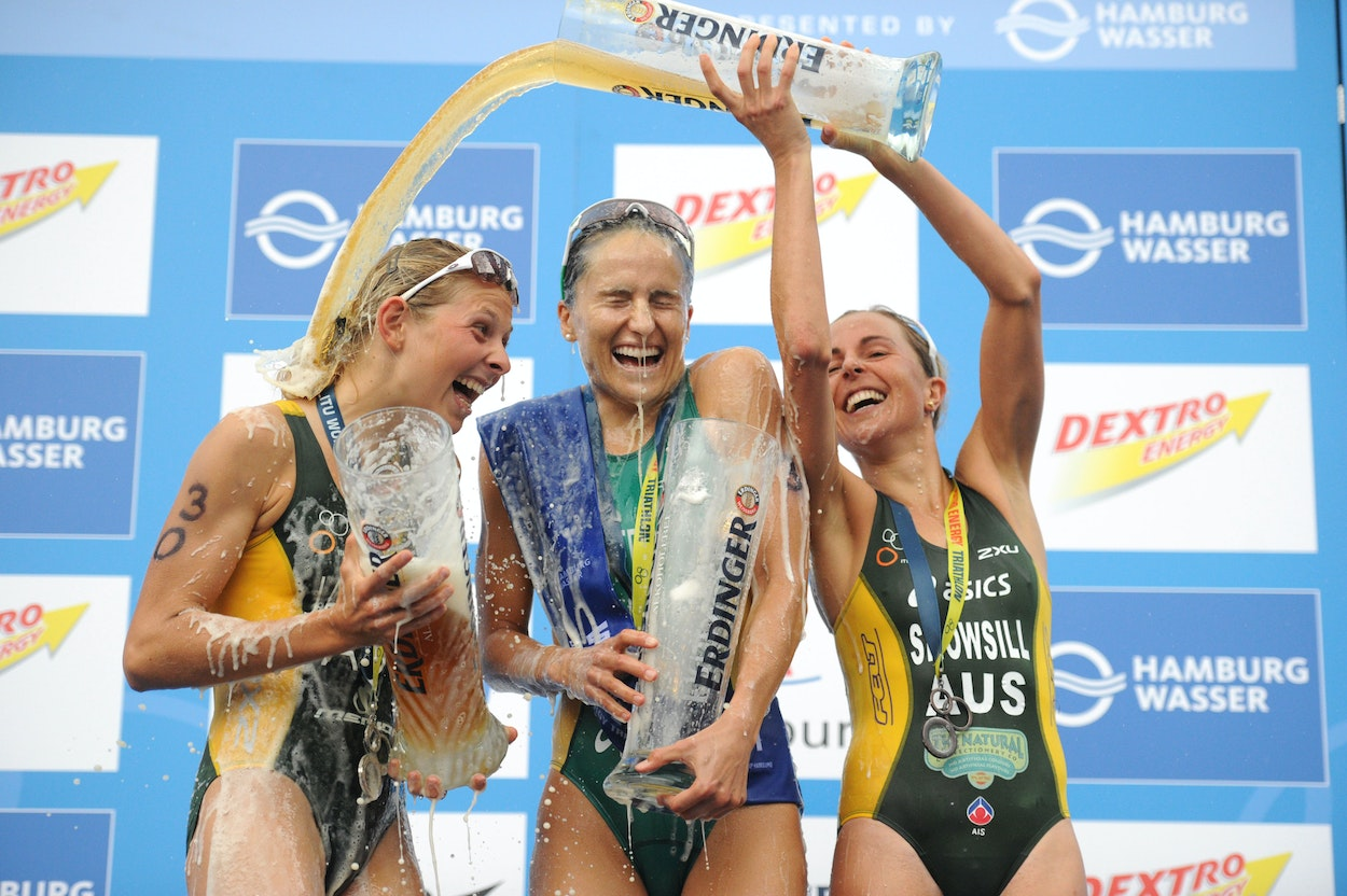 Great moments in triathlon by Delly Carr